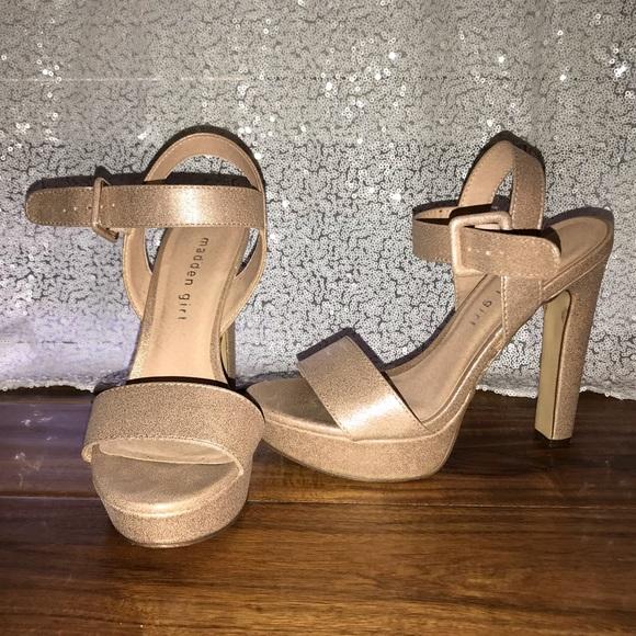 476c2ea3760a Madden Girl Shoes - Steve Madden Rollo Platform Sandal Heels Rose Gold